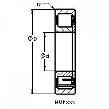 AST NUP309 E cylindrical roller bearings